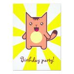 Gato de Kawaii Invitación Personalizada