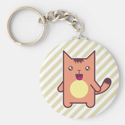 Gato de Kawaii Llavero Redondo Tipo Pin