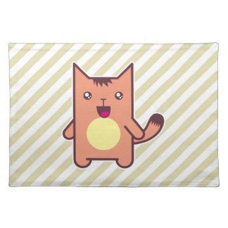Gato de Kawaii Mantel Individual