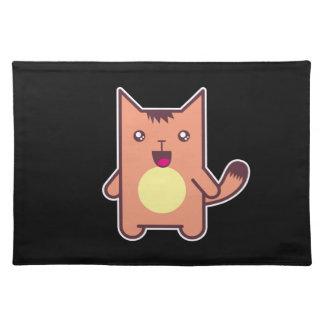 Gato de Kawaii Manteles Individuales