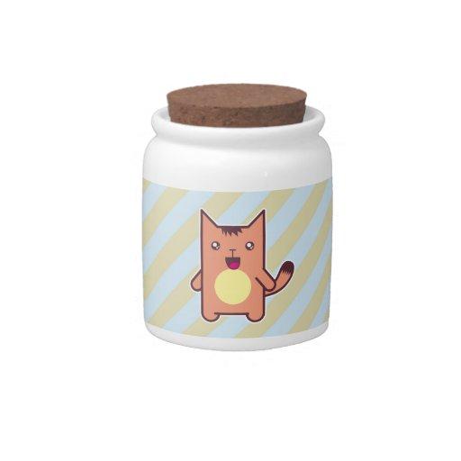 Gato de Kawaii Plato Para Caramelo