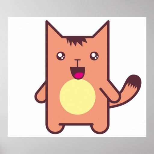Gato de Kawaii Poster