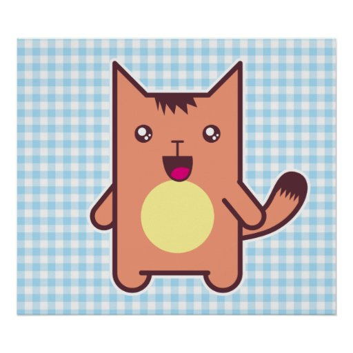 Gato de Kawaii Póster