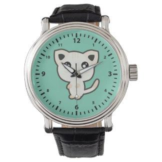 Gato de Kawaii Reloj