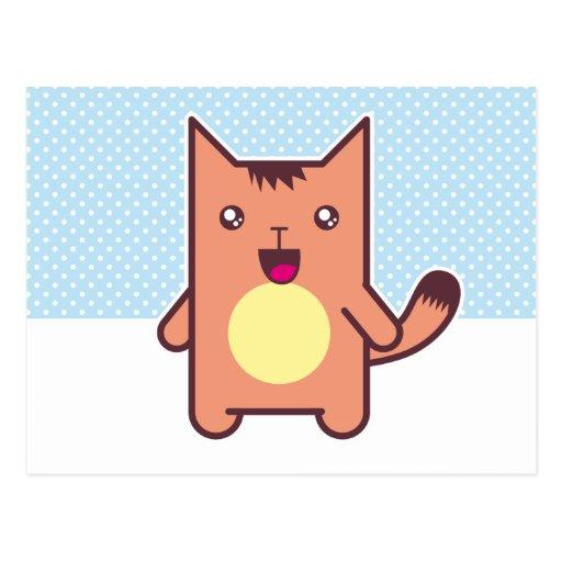 Gato de Kawaii Tarjetas Postales