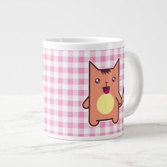 Gato de Kawaii Taza De Café Grande