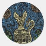 gato de la alheña pegatina redonda