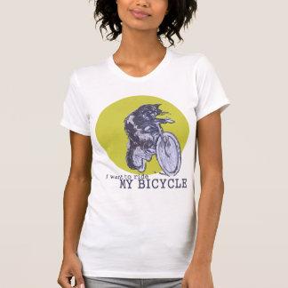Gato de la bicicleta camisetas