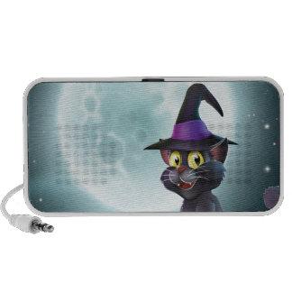 Gato de la bruja de la Luna Llena de Halloween Mp3 Altavoces