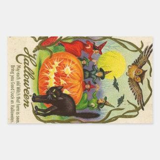 Gato de la bruja del pegatina el de Halloween de