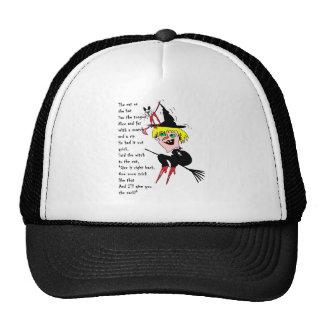 gato de la bruja n con el poema gorras de camionero