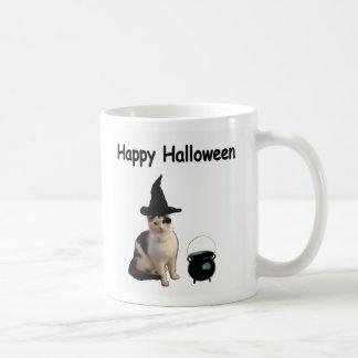 Gato de la bruja taza