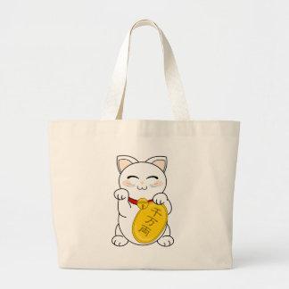 Gato de la buena fortuna - Maneki Neko Bolsa Tela Grande