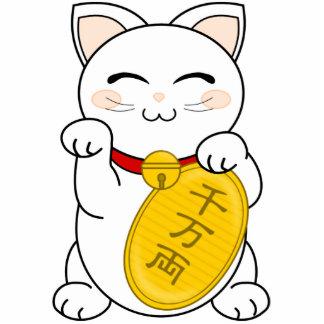 Gato de la buena fortuna - Maneki Neko Escultura Fotografica