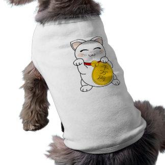 Gato de la buena fortuna - Maneki Neko Camiseta De Perro
