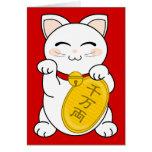Gato de la buena fortuna - Maneki Neko Felicitación