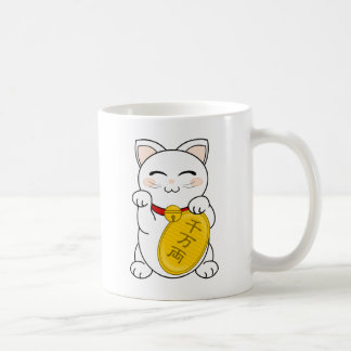 Gato de la buena fortuna - Maneki Neko Tazas