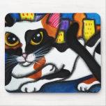 Gato de la ciudad tapetes de raton