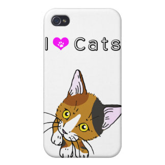 Gato de la concha (三毛猫) iPhone 4 carcasa