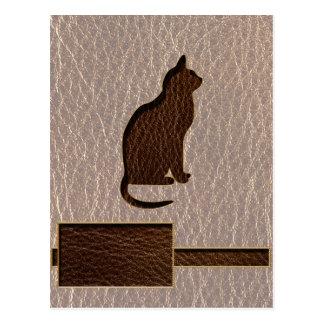 Gato de la Cuero-Mirada suave Tarjetas Postales