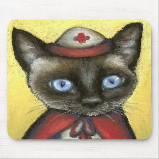 Gato de la enfermera alfombrilla de raton
