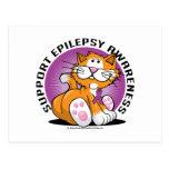 Gato de la epilepsia tarjetas postales