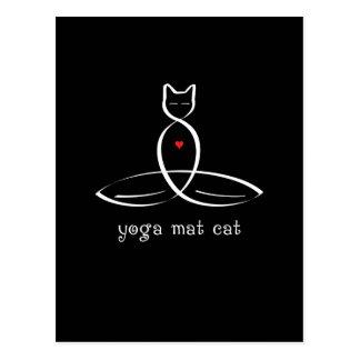 Gato de la estera de la yoga - texto de lujo del e tarjetas postales