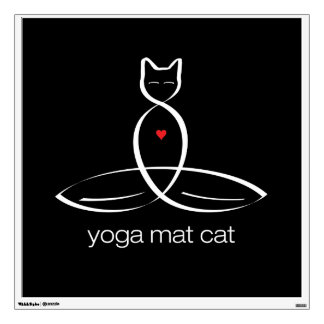 Gato de la estera de la yoga - texto regular del e