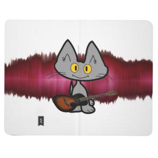 Gato de la estrella del rock cuadernos