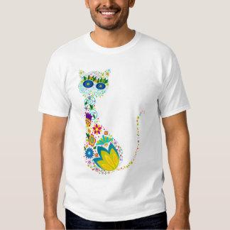 Gato de la flor camisas