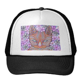 Gato de la flor gorra