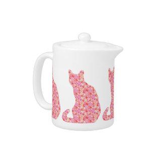 Gato de la flor - naranja coralino y rosa
