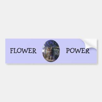 Gato de la flor (oval) pegatina para auto