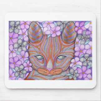 Gato de la flor tapetes de raton