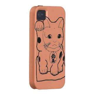 """""""Gato de la fortuna """" iPhone 4/4S Funda"""