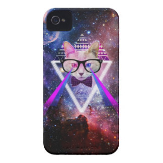 Gato de la galaxia del inconformista Case-Mate iPhone 4 protectores
