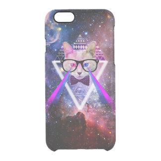 Gato de la galaxia del inconformista funda clear para iPhone 6/6S