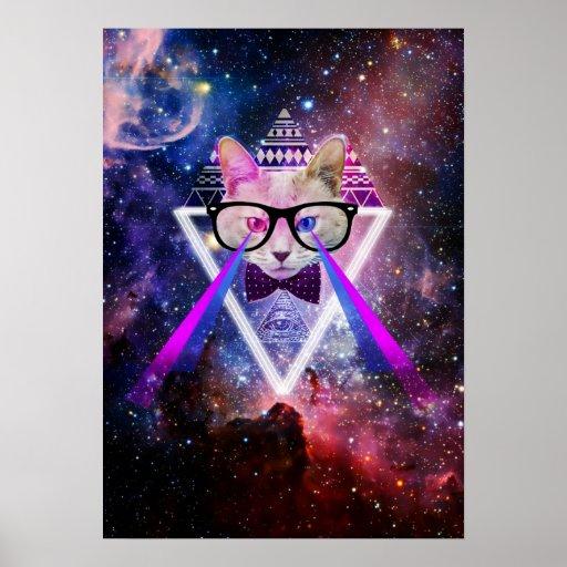 Gato de la galaxia del inconformista poster