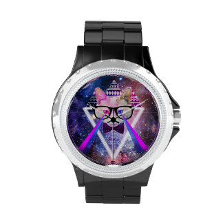 Gato de la galaxia del inconformista reloj de mano