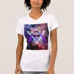 Gato de la galaxia del inconformista tshirts