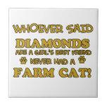 gato de la granja mejor que diamantes teja  ceramica
