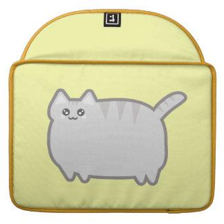 Gato de la grasa de Kawaii Funda Para Macbook Pro