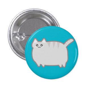 Gato de la grasa de Kawaii Pin Redondo De 1 Pulgada