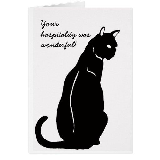 gato de la hospitalidad tarjeta de felicitación