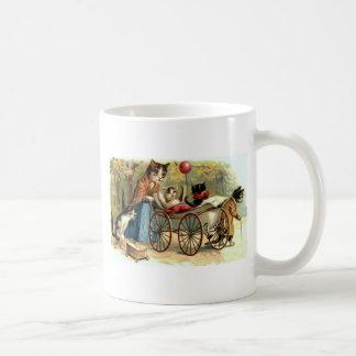 Gato de la madre del vintage taza de café