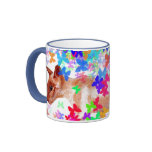 gato de la mariposa taza de café