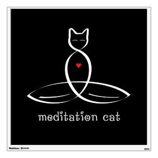 Gato de la meditación - texto de lujo del estilo