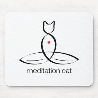 Gato de la meditación - texto regular del estilo alfombrilla de raton
