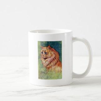 Gato de la mermelada con los ojos azules tazas de café