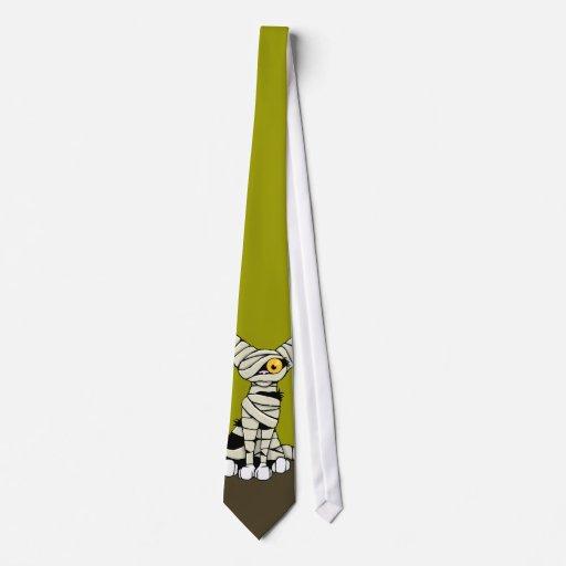 Gato de la momia del dibujo animado - lazo de la n corbata
